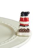 nora fleming hurry down the chimney mini (santa upside down)