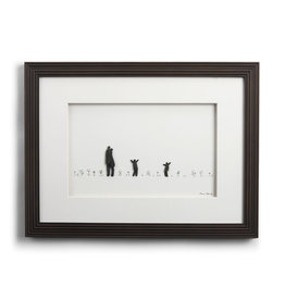 Sharon Nowlan Life's Little Moments (Family of Four 4)  Pebble Wall Art 16x12