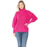Fleurish Home Puff Sleeve Turtleneck Sweater