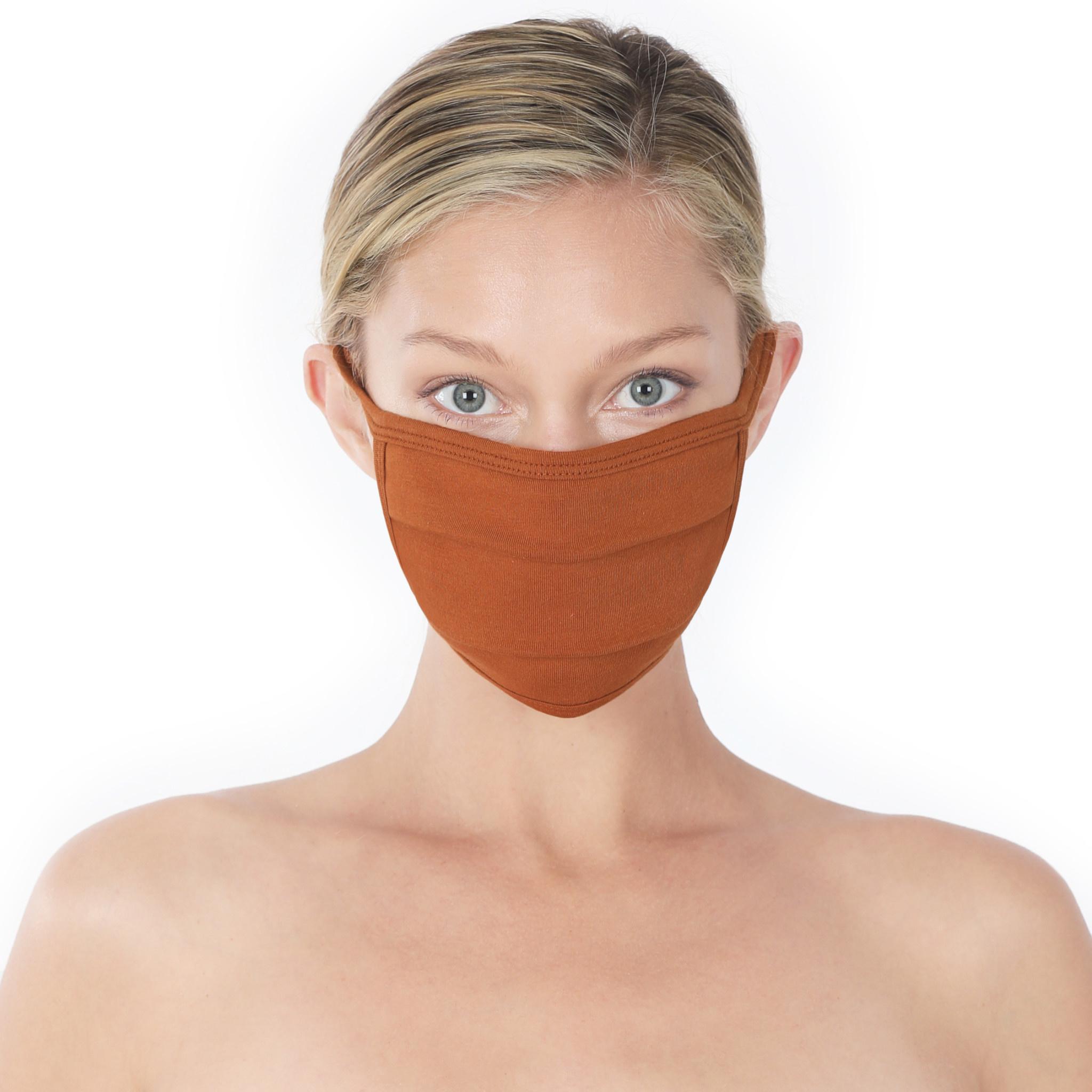Fleurish Home Simple Cotton Fashion Mask: Almond