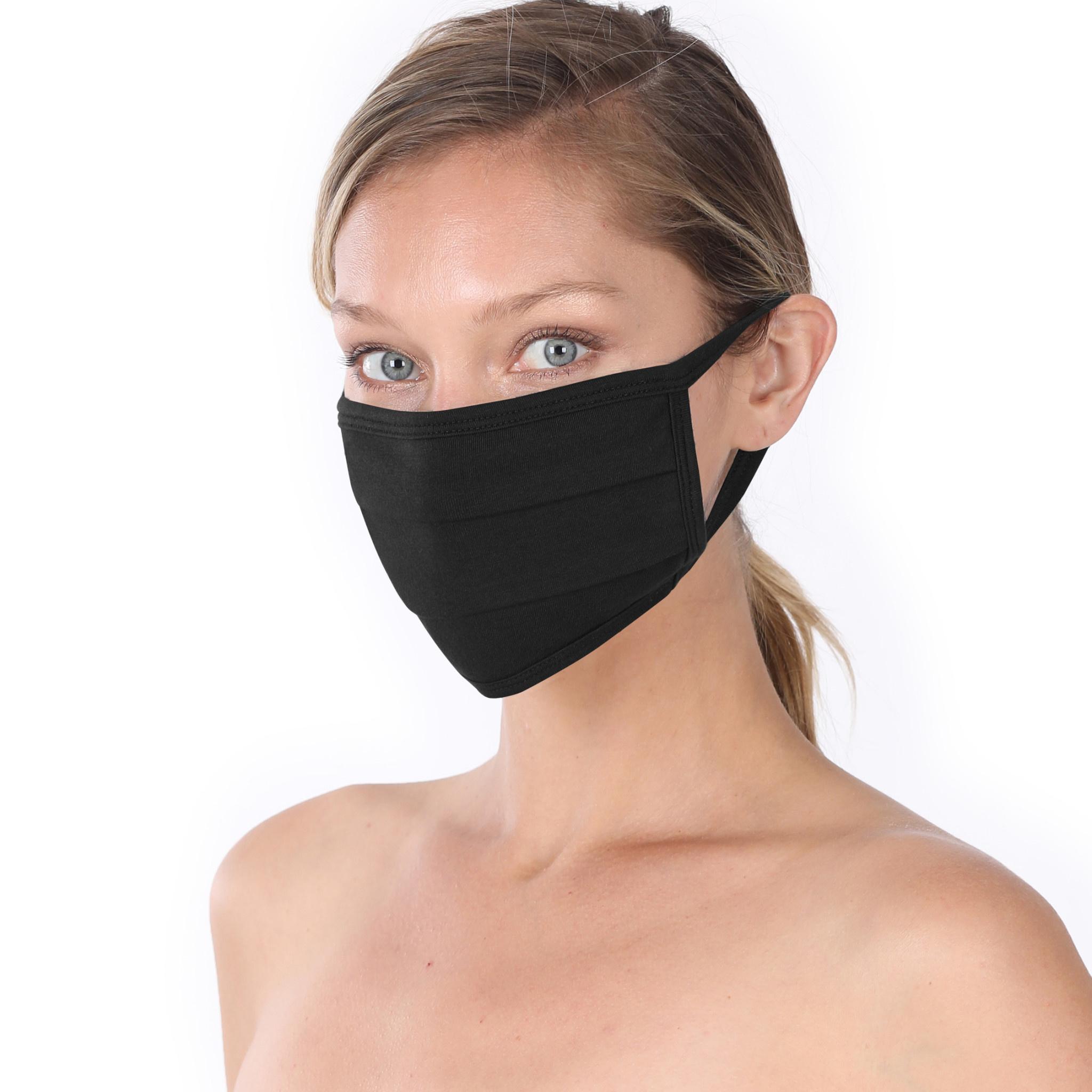 Fleurish Home Simple Cotton Fashion Mask: Black