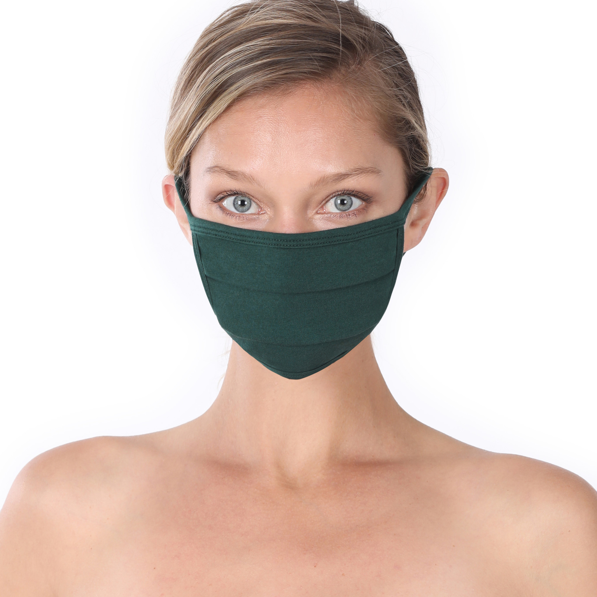 Fleurish Home Simple Cotton Fashion Mask: Hunter Green