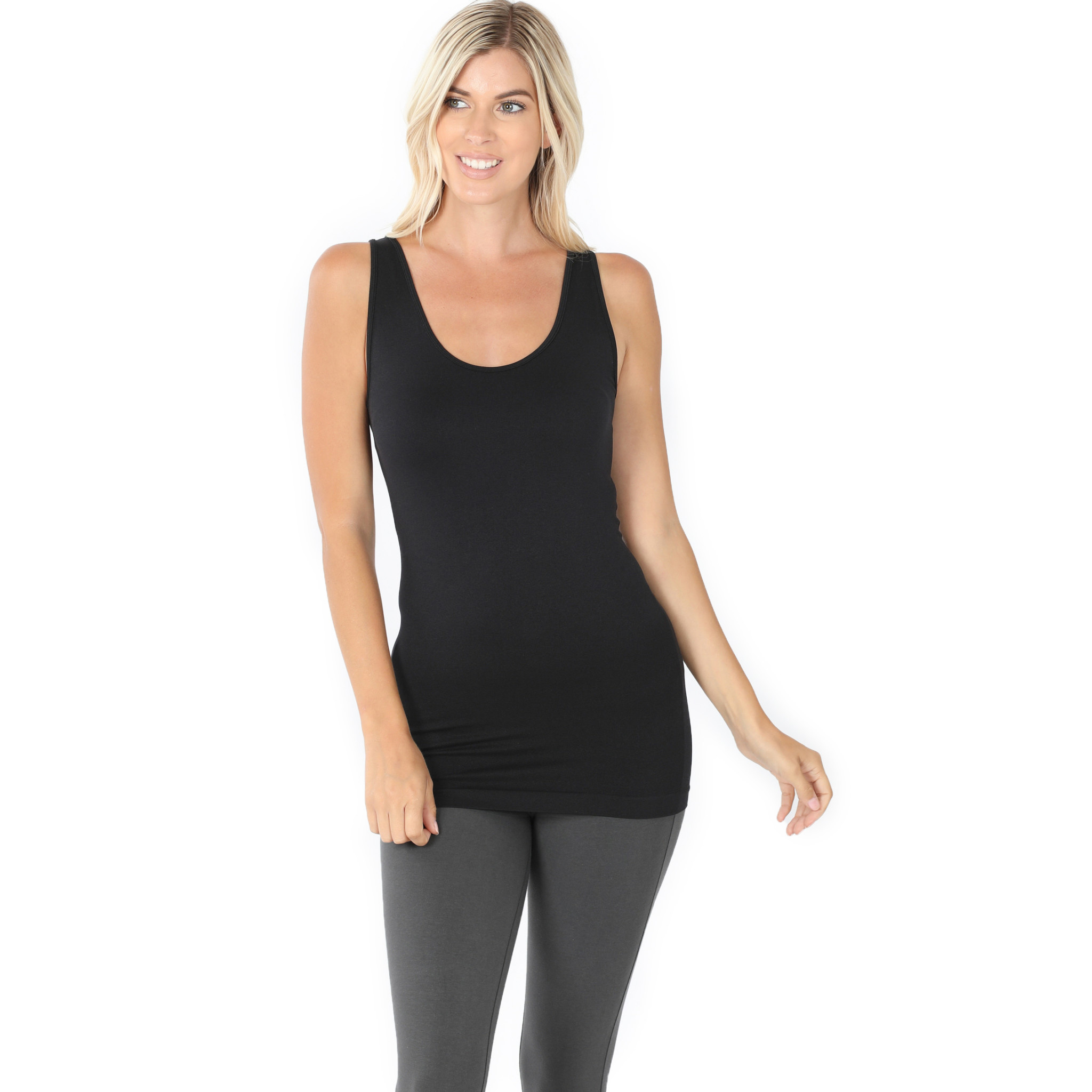 Fleurish Home Scoop Neck Seemless Tank