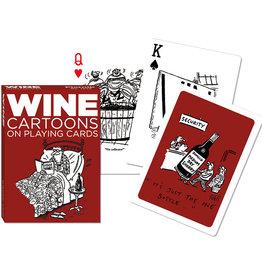 Piatnik Playing Cards Deck Wine Cartoons