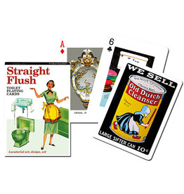 Piatnik Playing Cards Deck Straight Flush (toilet themed)