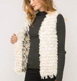 Fleurish Home Ivory Furry Vest