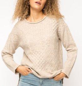 Fleurish Home Taupe Textured Sweater