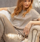 Fleurish Home Shimmery Taupe Lounge Top *last chance