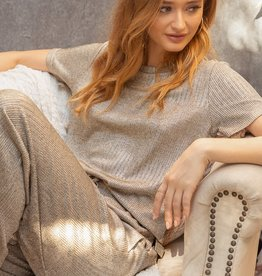 Fleurish Home Shimmery Taupe Lounge Top