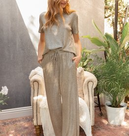 Fleurish Home Shimmery Taupe Lounge Pant