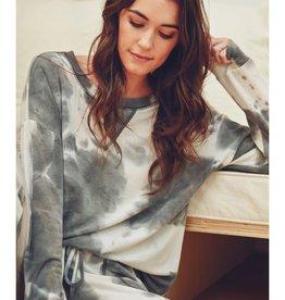 Fleurish Home Charcoal Tie Dye Sweatshirt