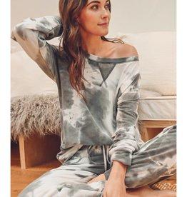 Fleurish Home Charcoal Tie Dye Jogger Pant
