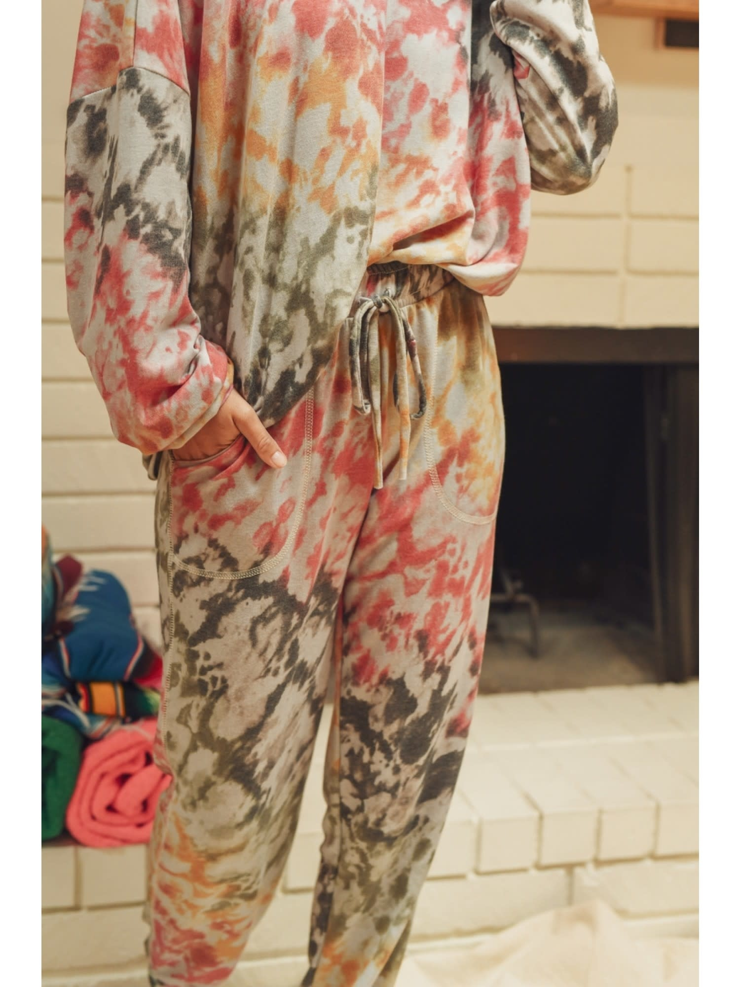Fleurish Home Colorful Tie Dye Jogger Pant