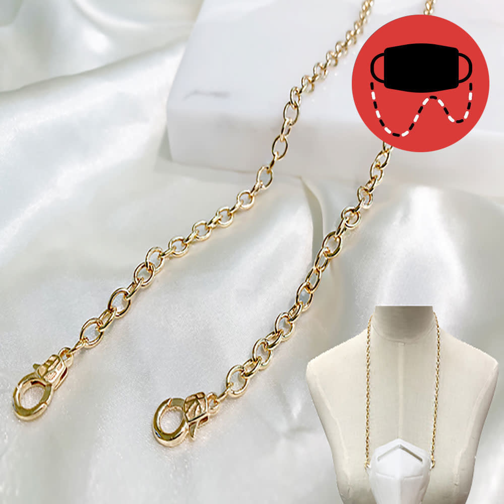 Fleurish Home Gold Loop Mask Holder/Necklace