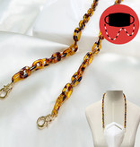 Fleurish Home Tortoise Shell Acrylic Loop Mask Holder/Necklace