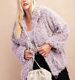 Fleurish Home Ash Purple Furry Jacket*