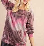 Fleurish Home Plum Tie Dye Lightweight Sweatshirt