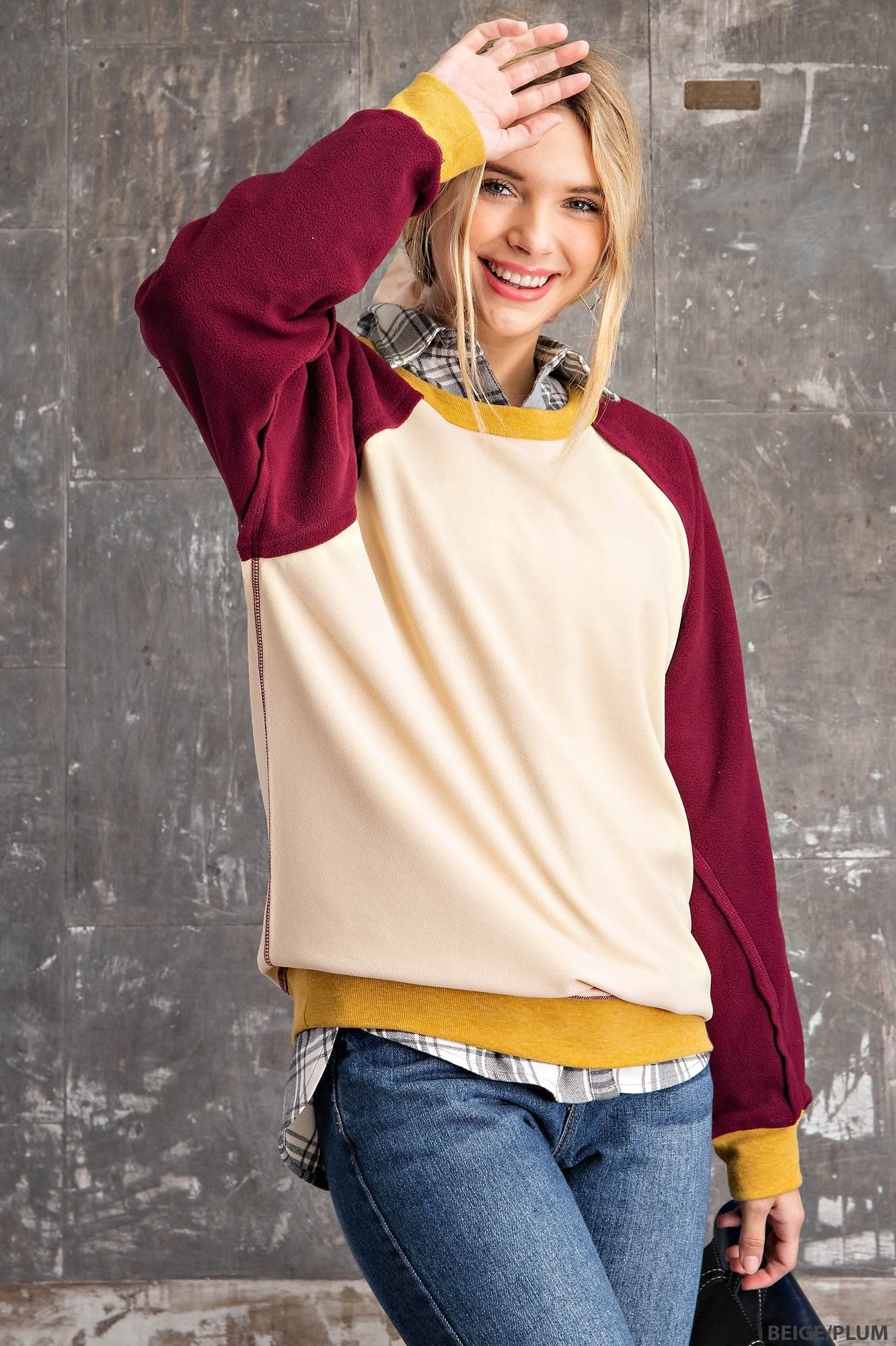 Fleurish Home Color Block Sweatshirt *last chance