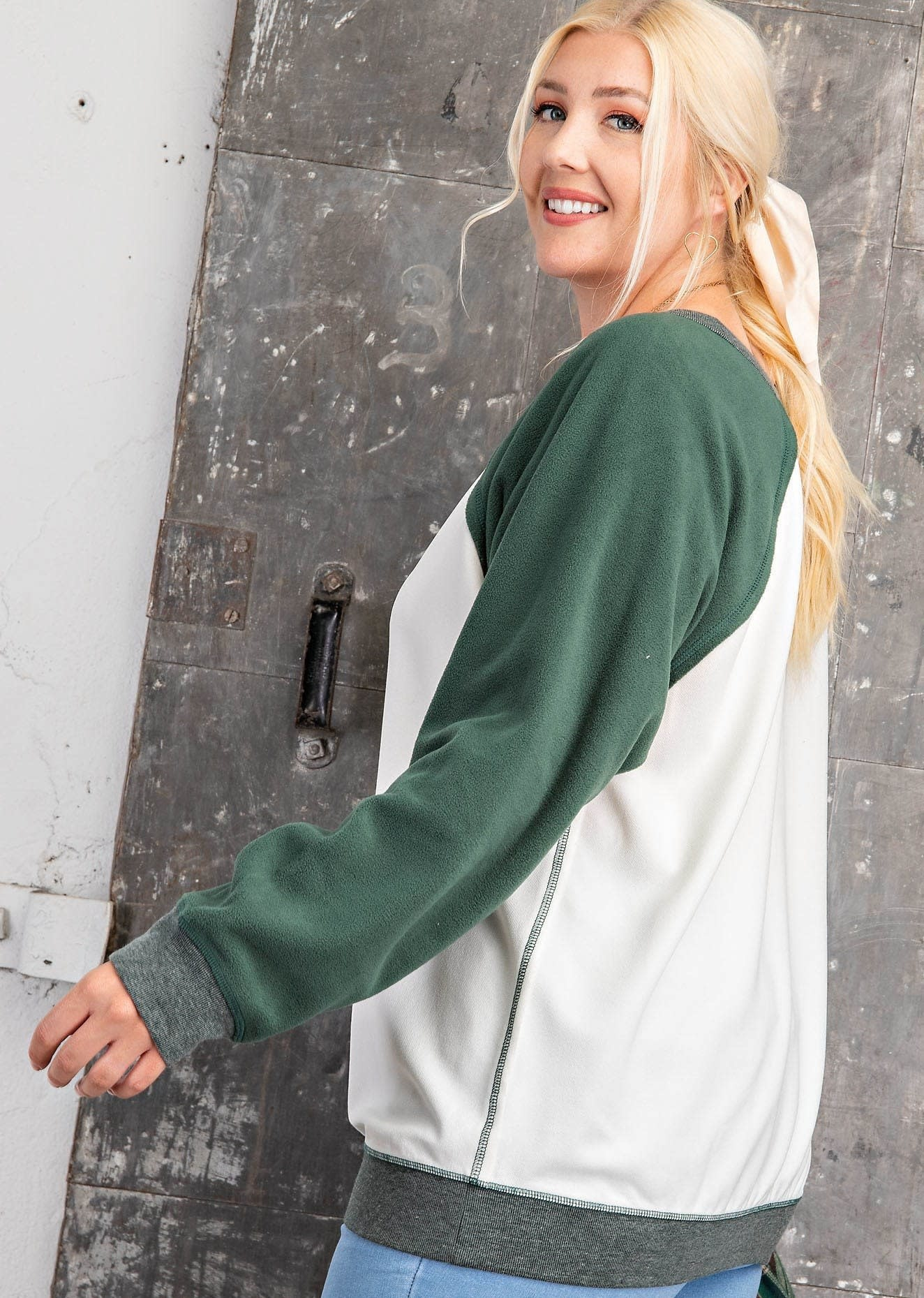 Fleurish Home Color Block Sweatshirt