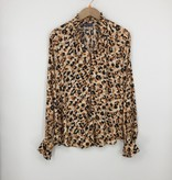 Democracy LEOPARD JACQUARD PRINTED WOVEN TOP