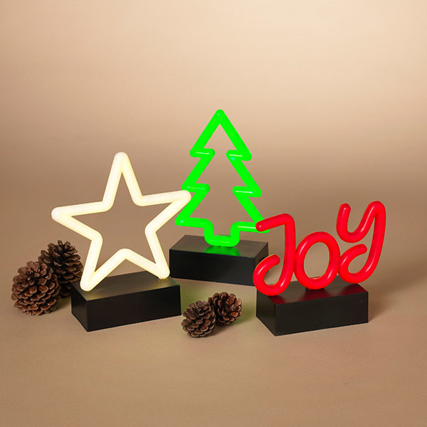Fleurish Home Sm LED Holiday Neon Decor on Black Base (joy and trees available only) *last chance