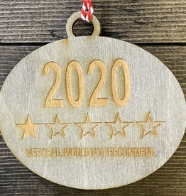 Fleurish Home Wood Engraved 2020 One Star Review Ornament