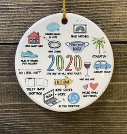 Fleurish Home Ceramic 2020 Year in Icons Ornament