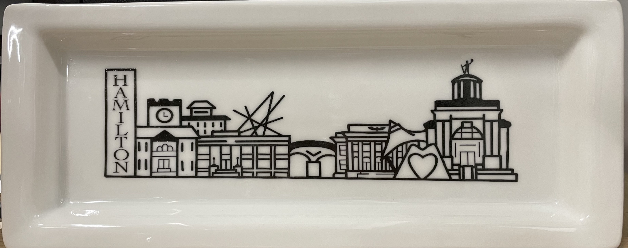 Fleurish Home Hamilton Skyline Rectangular Plate *exclusively ours*