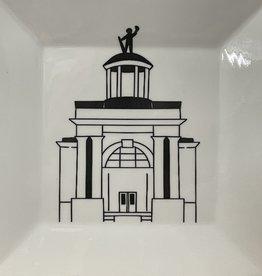 Fleurish Home Soldiers and Sailor's Monument Hamilton Landmark Icon Sm Square Plate