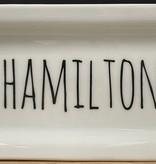 Fleurish Home Hamilton Name Rectangular Plate