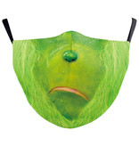 Fleurish Home Grinch Face Holiday Fashion Mask