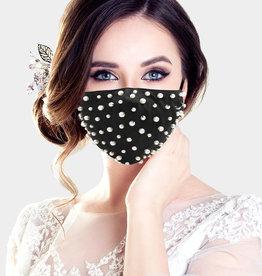 Fleurish Home Pearl Fashion Mask (Black)