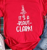 Fleurish Home It's a Beaut Clark Quote Graphic Tee (red)
