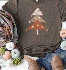Fleurish Home Modern Triangle Tree Tee (heather brown)