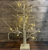 24'' Champagne Gold Glitter Lighted Tree