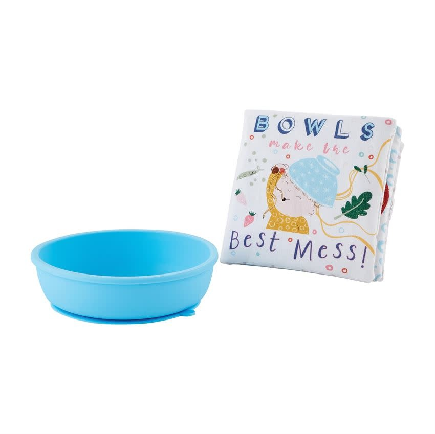 Mudpie MESS BOOK WITH SILICONE BOWL