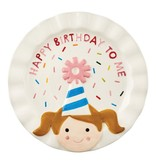 Mudpie BIRTHDAY GIRL CANDLE PLATE