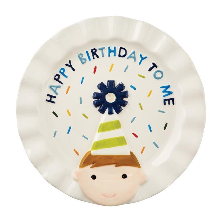 Mudpie BIRTHDAY BOY CANDLE PLATE