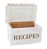 Mudpie WHITE BEADED RECIPE BOX