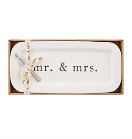 Mudpie MR AND MRS HOSTESS SET
