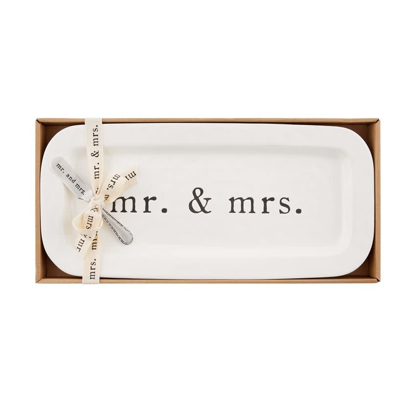 Mudpie MR AND MRS HOSTESS SET
