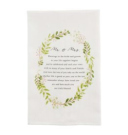 Mudpie WREATH WEDDING TOWEL