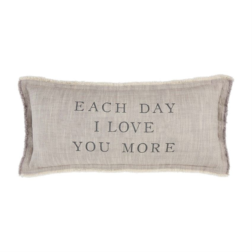 Mudpie EACH DAY LOVE PILLOW