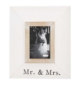 Mudpie MR AND MRS WIDE WOOD FRAME
