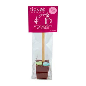 Ticket Chocolate Valentine's Hot Chocolate on a Stick: French Truffle