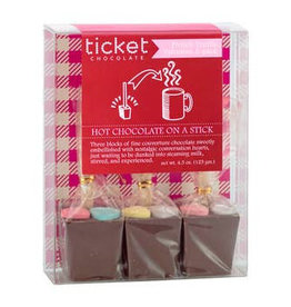 Ticket Chocolate Valentine's Hot Chocolate Stick Trio: French Truffle