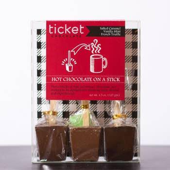 Ticket Chocolate Valentine's Hot Chocolate Stick Trio: Variety