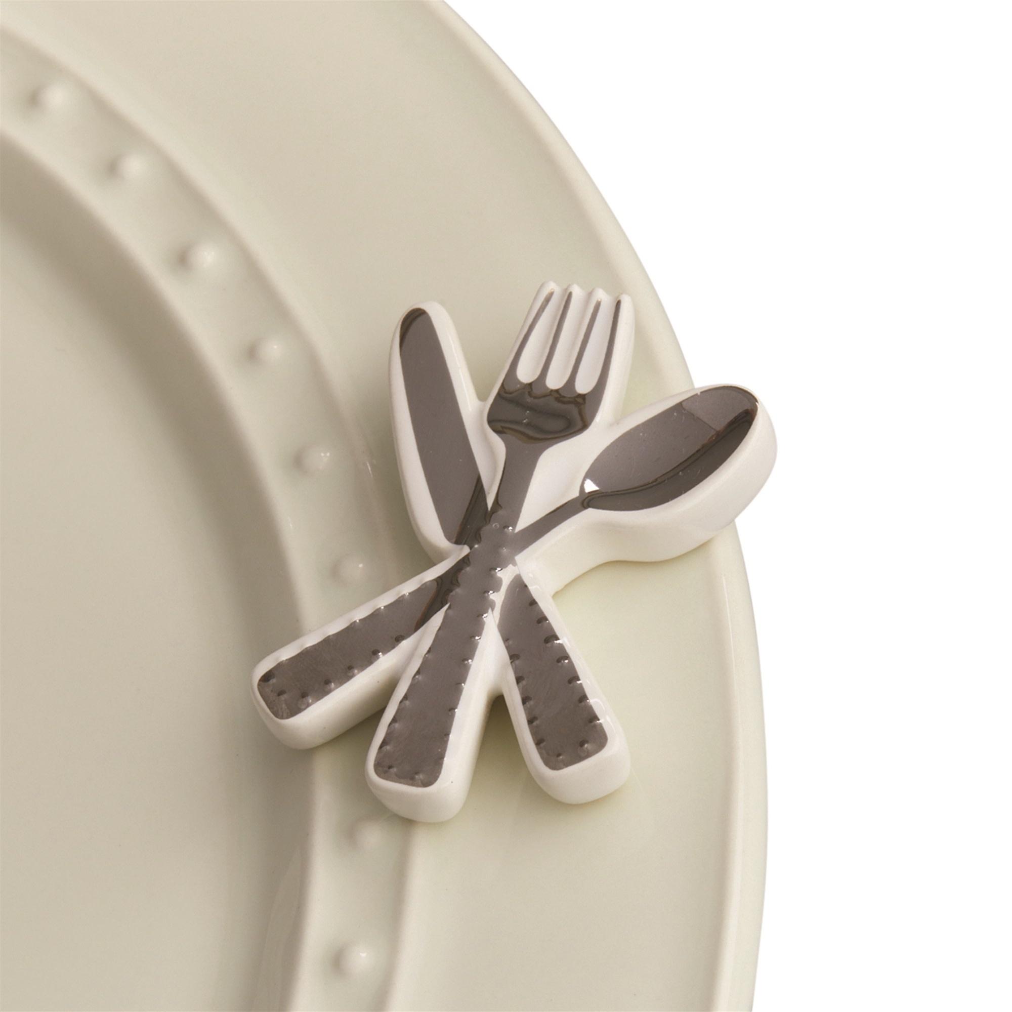 nora fleming bon appetit mini (flatware/silverware)