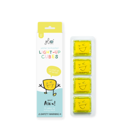 Glo Pals Yellow Light Up Cubes GloPals Alex