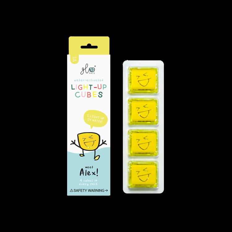 Glo Pals Yellow Light Up Cubes GloPals Alex